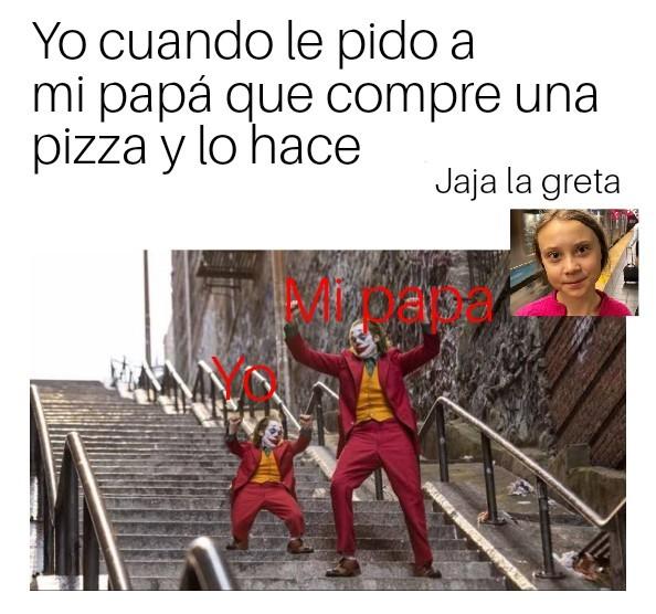 El título es el repartidor de pizza - meme