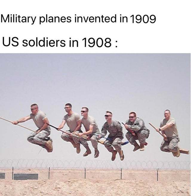 Military planes invented in 1909 - meme