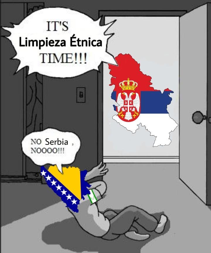 En realidad los muslims repelieron bien a los serbios - meme