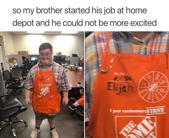 I'm proud of him getting a job he loves. I hope you find a job you love. - meme