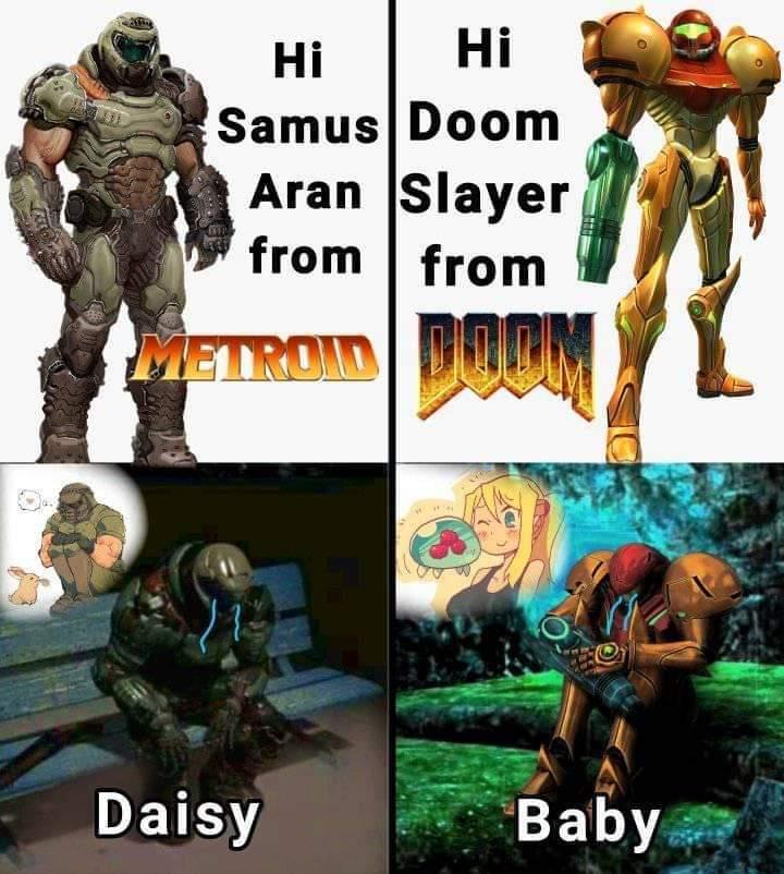 Nintendo y doom - meme