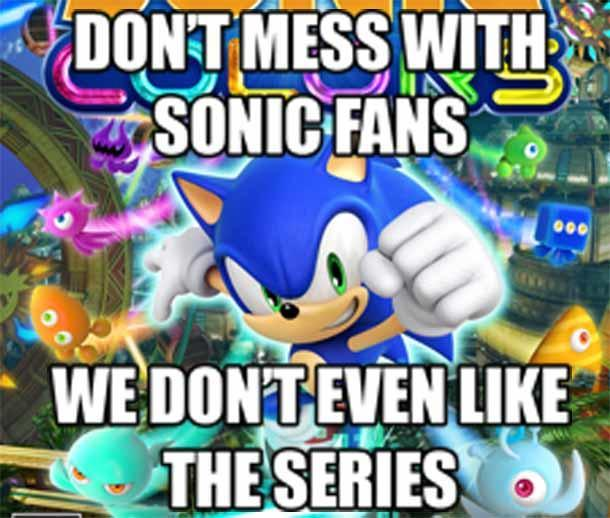 As a sonic fan I can say this is true - meme
