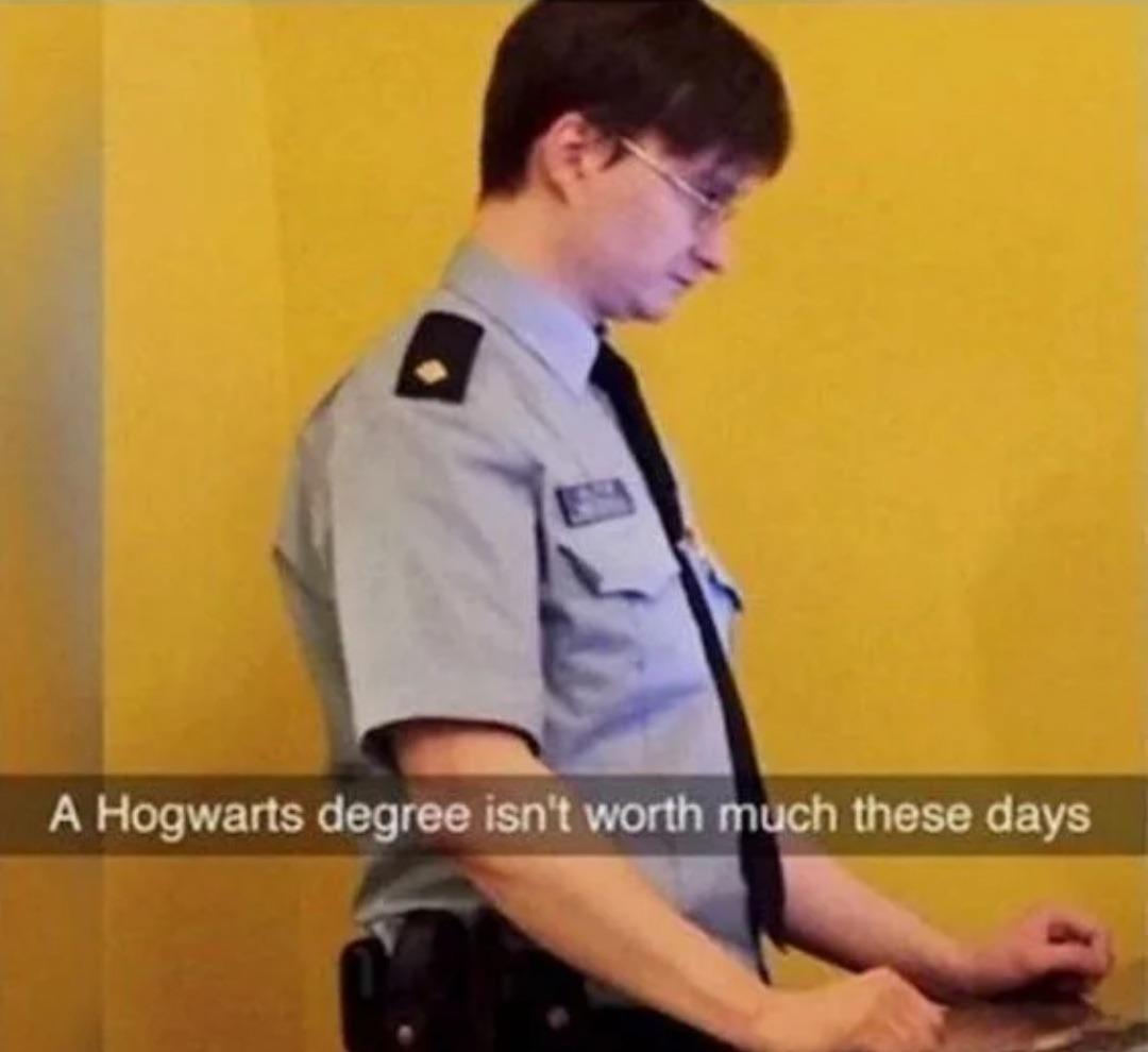 You're a rent-a-cop, Harry - meme