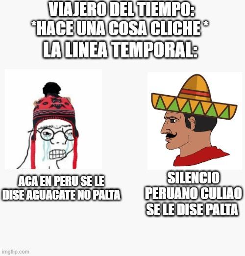 me falto el color carton en el peruano xd - meme