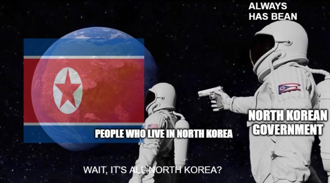 North Korea will rule the world ,nuke them all - meme