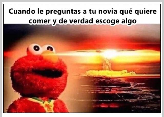 """Elmo quiere comer :""""v - meme"""