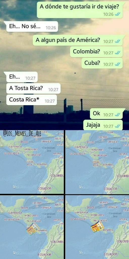 Con el zoom infinito pueden ver el paquete de Tosta Rica - meme