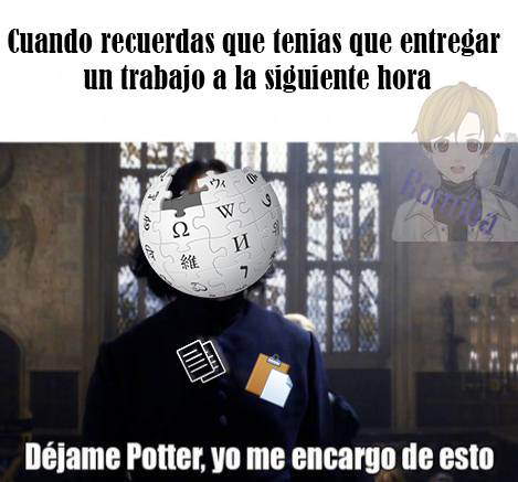 Nuestro amigo Severus Wikipedia - meme