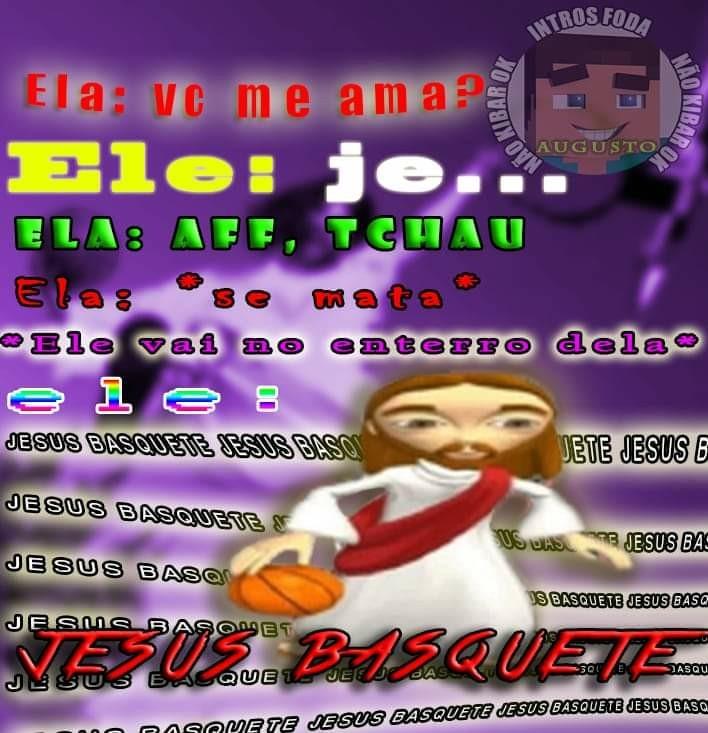 Jesus basquete - meme
