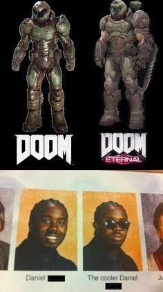 Doom vs Doom eternal - meme