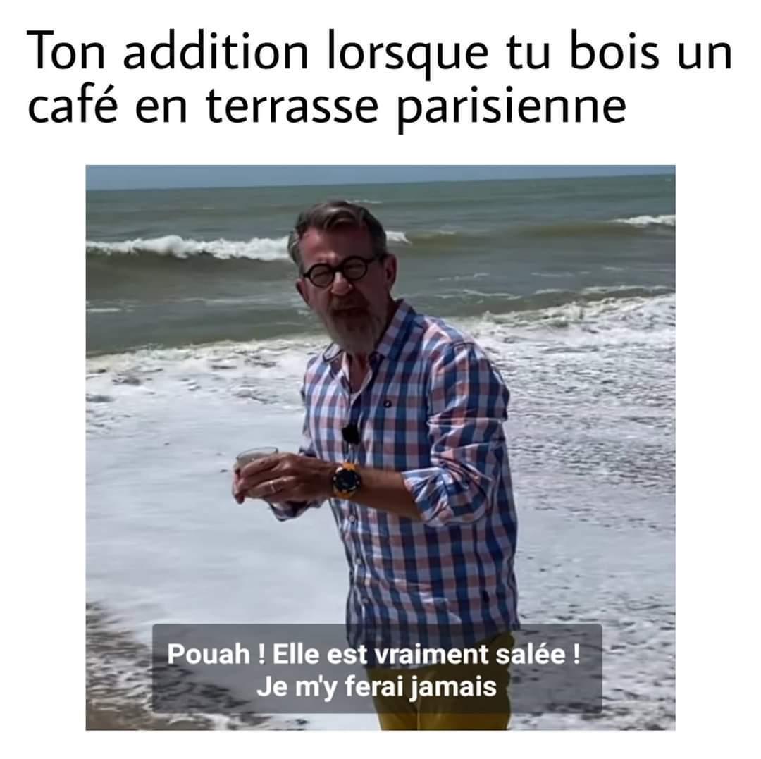 Les parisiens en sueur - meme