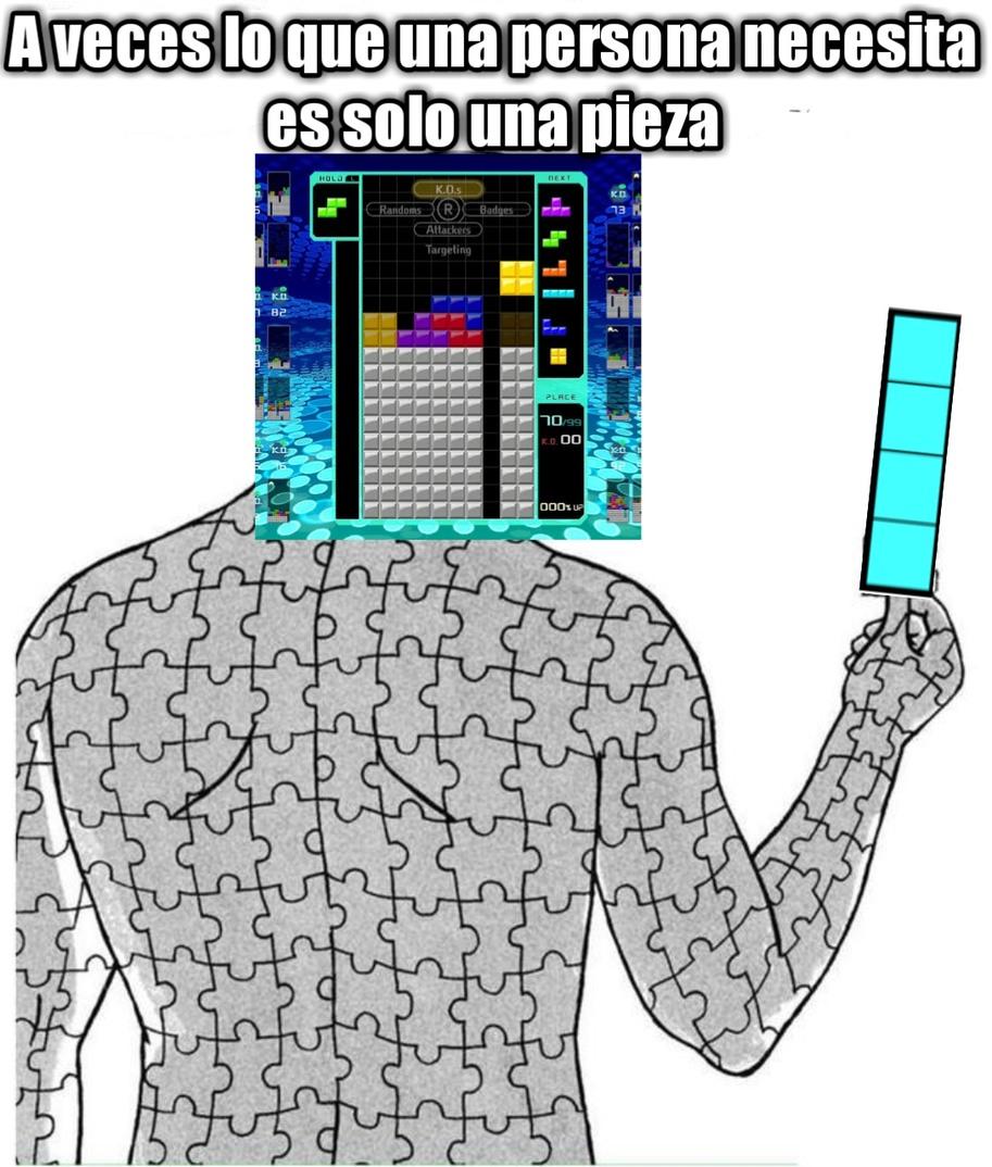 El titulo se fue a jugar Tetris - meme