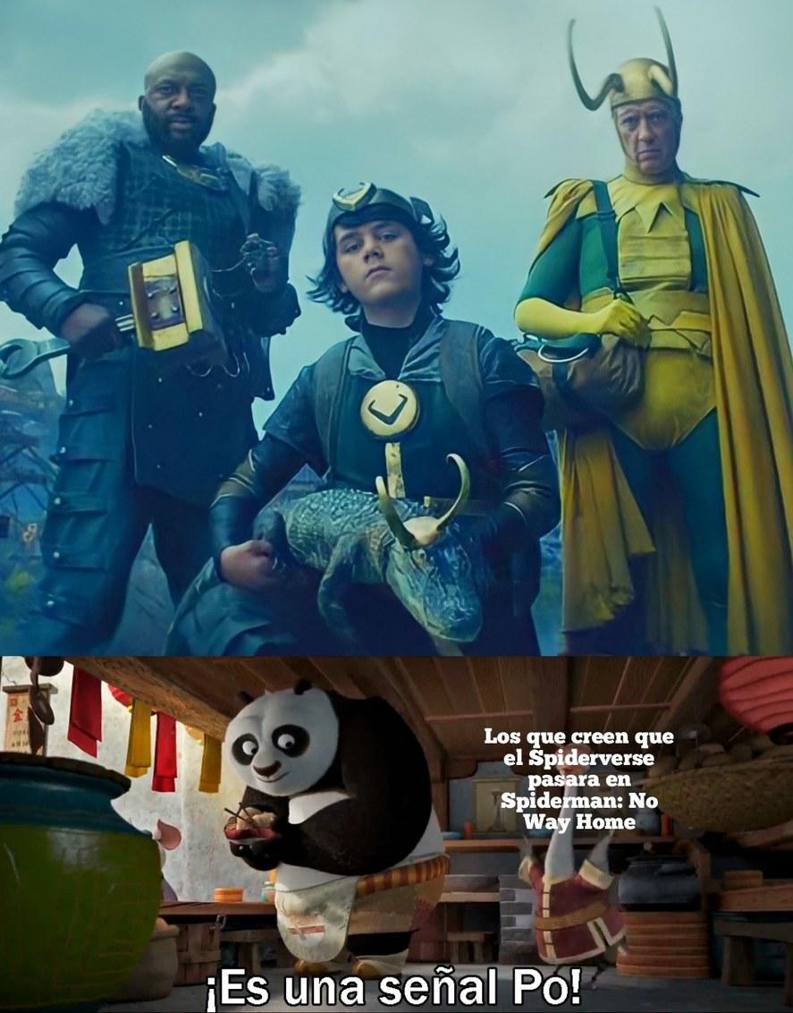 Ahora pienso que si podria pasar despues de Loki - meme
