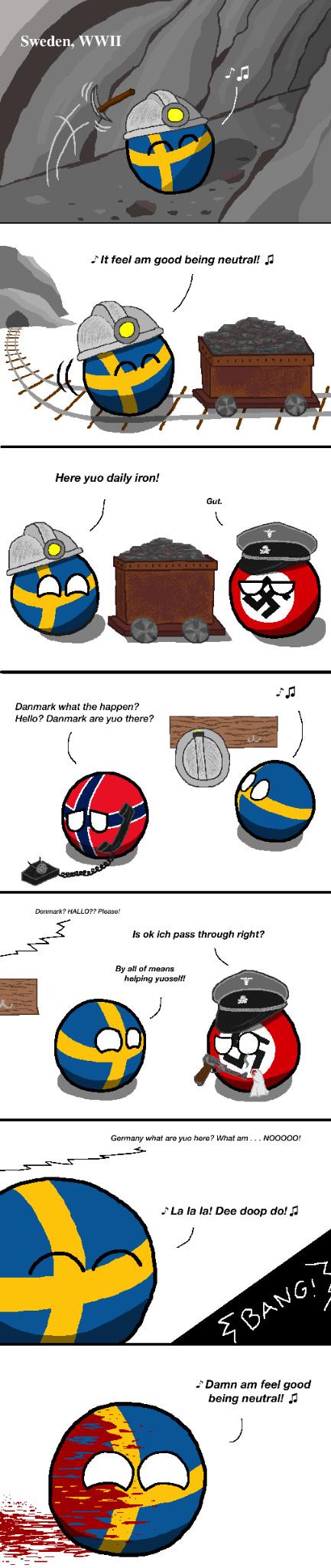 Sweden the neutral - meme