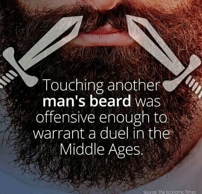 Don't touch my beard!!! 3rd commenter has a peepee beard - meme