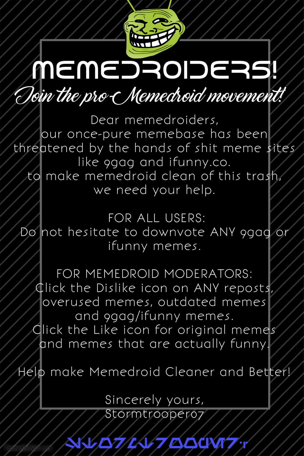 JOIN THE MOVEMENT #CleanMemes
