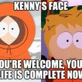 Oh my god they showed Kenny