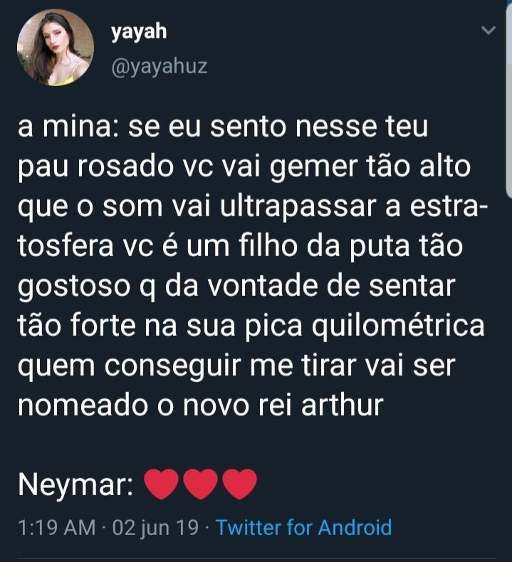 Neymar é inocente de mais na arte da putaria - meme