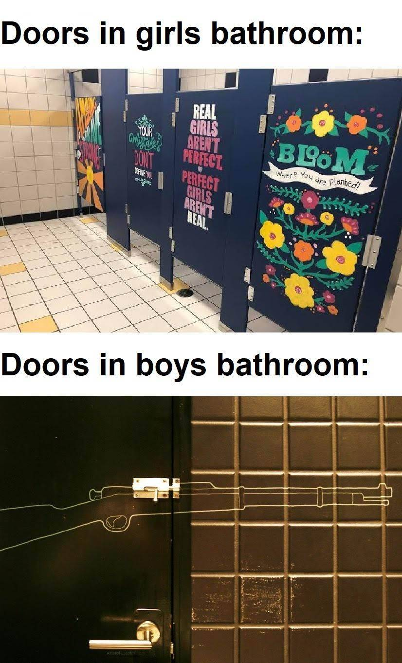 Boys Bathroom - meme