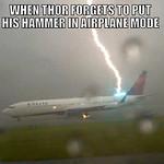 Thunder strikes - meme