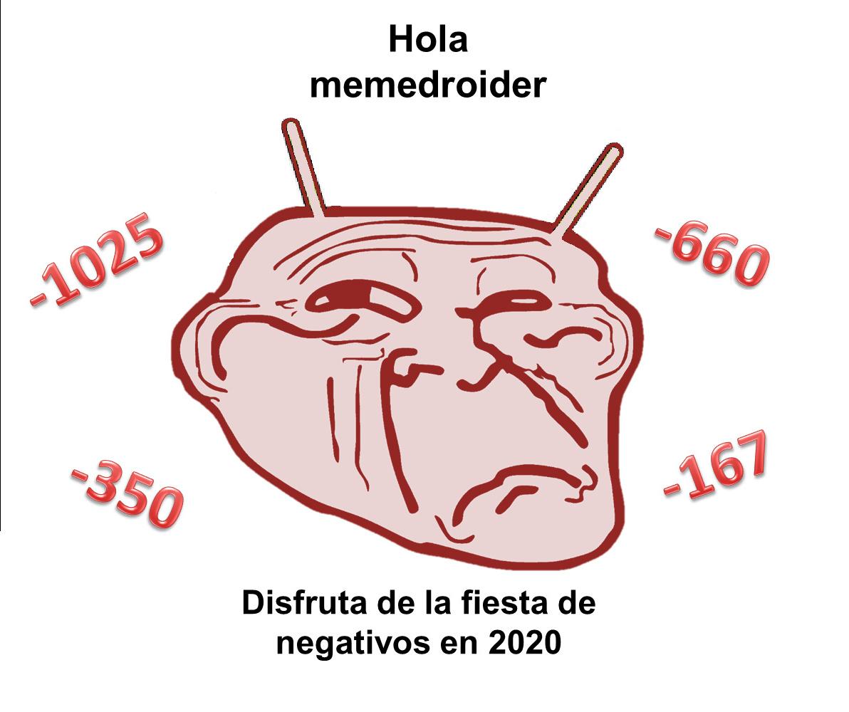 Fiesta de negativos - meme