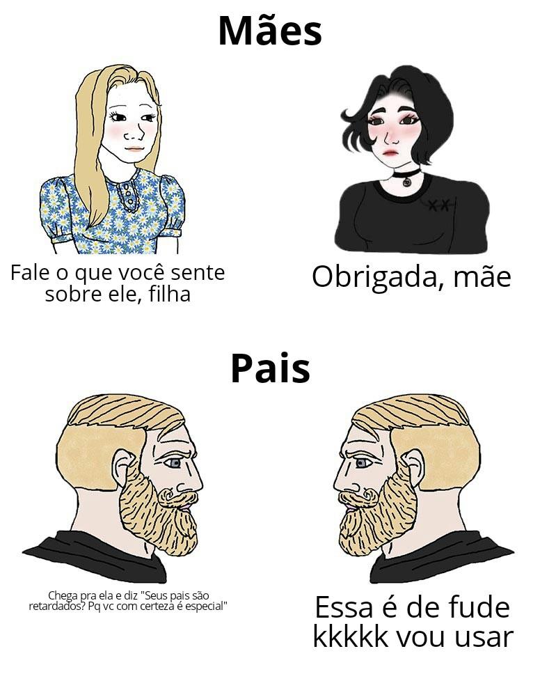 Mãe vs pai - meme