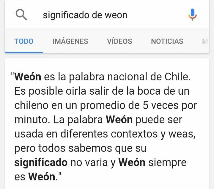 Para los no chilenos. - meme