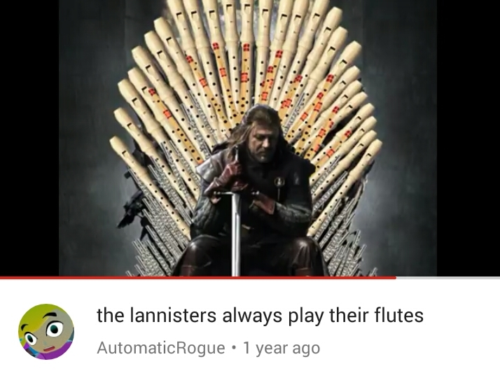 The video is the GoT opening shittyfluted - meme