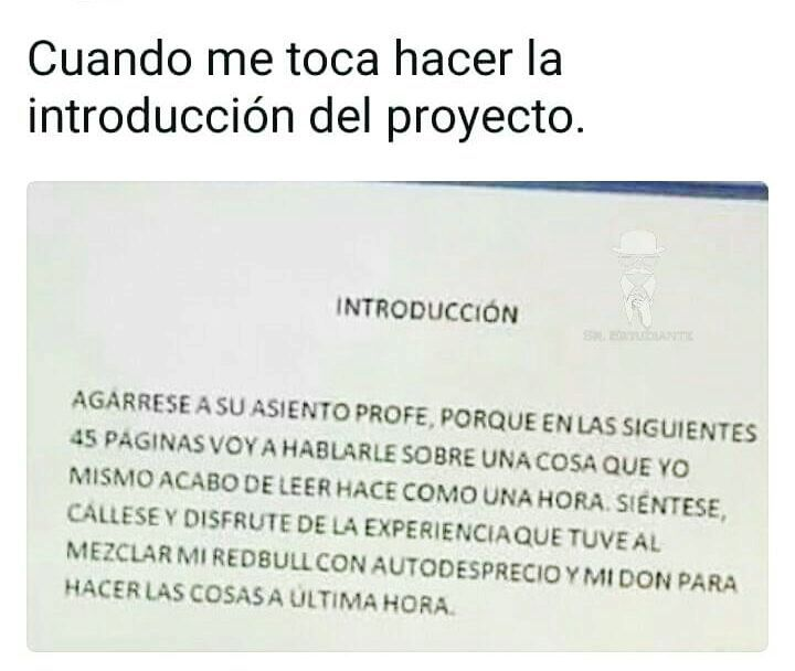 Q when proyecto - meme