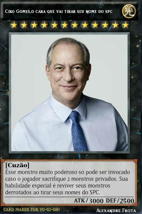 Eu invoco, Ciro Gomes! - meme