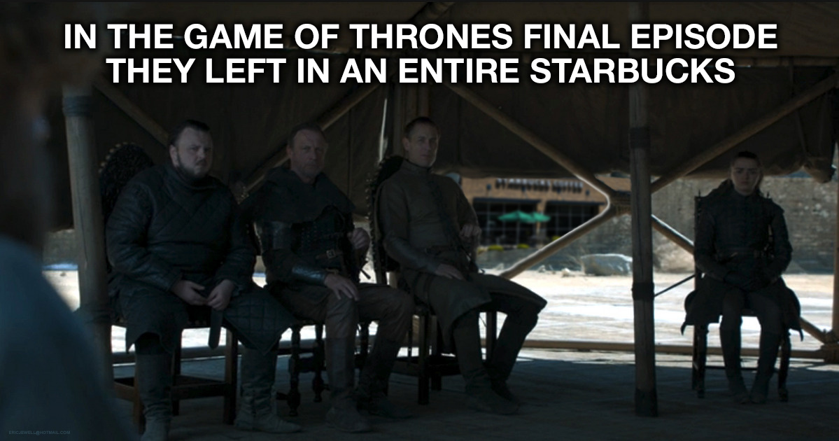 They Left an entire Starbucks in the Final Game of Thrones Episode - meme