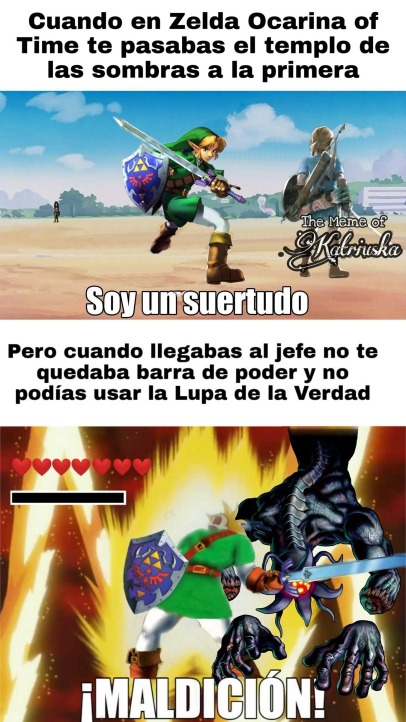 Mala suerte, Link - meme
