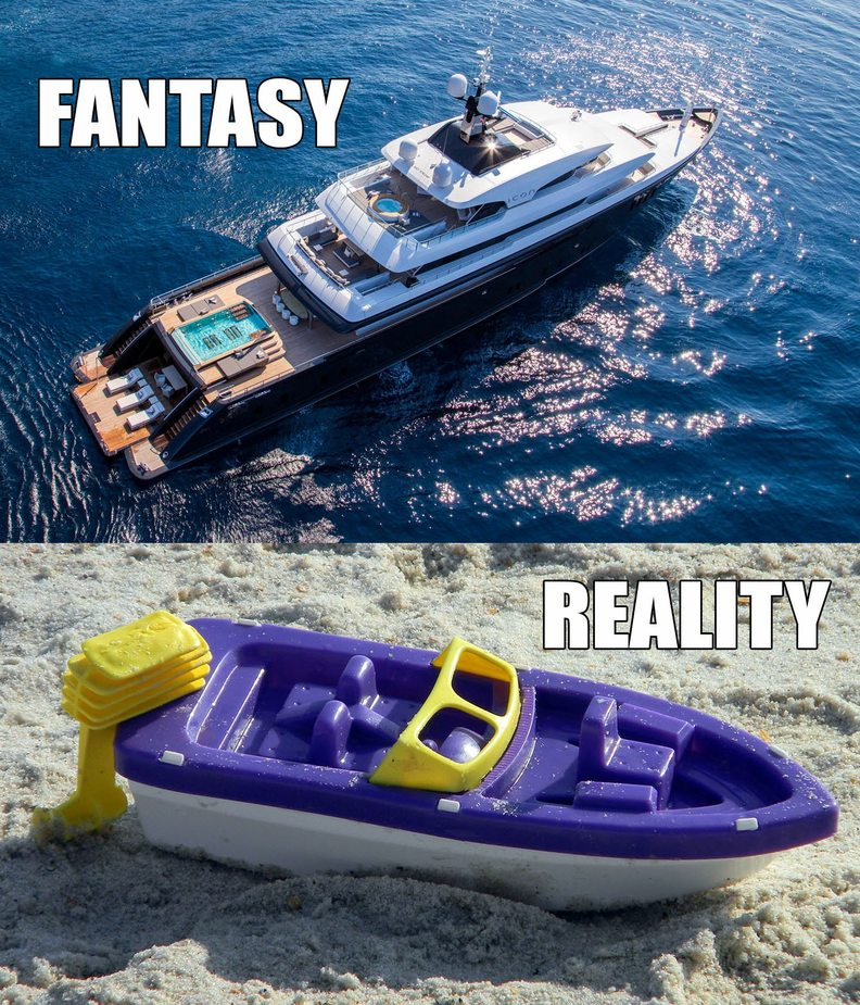 Fantasy vs Reality - meme