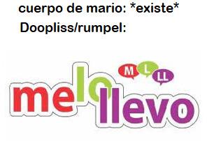 contexto: doopliss o rumpel en español en paper mario la puerta milenaria se lleva el cuerpo de mario - meme