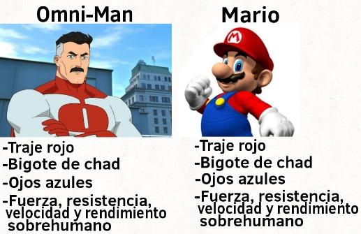 En efecto, Mario y Omni-Man son la misma persona - meme