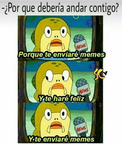 Te enviare memes :')
