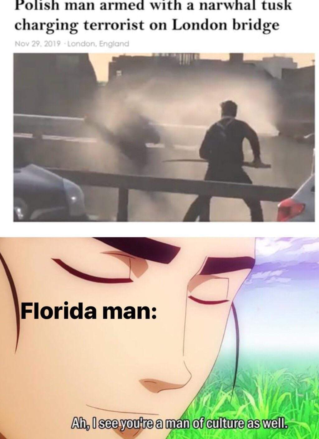 Florida man is proud - meme