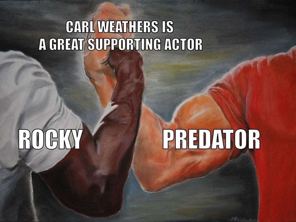 Carl Weathers Epic Handshake - meme