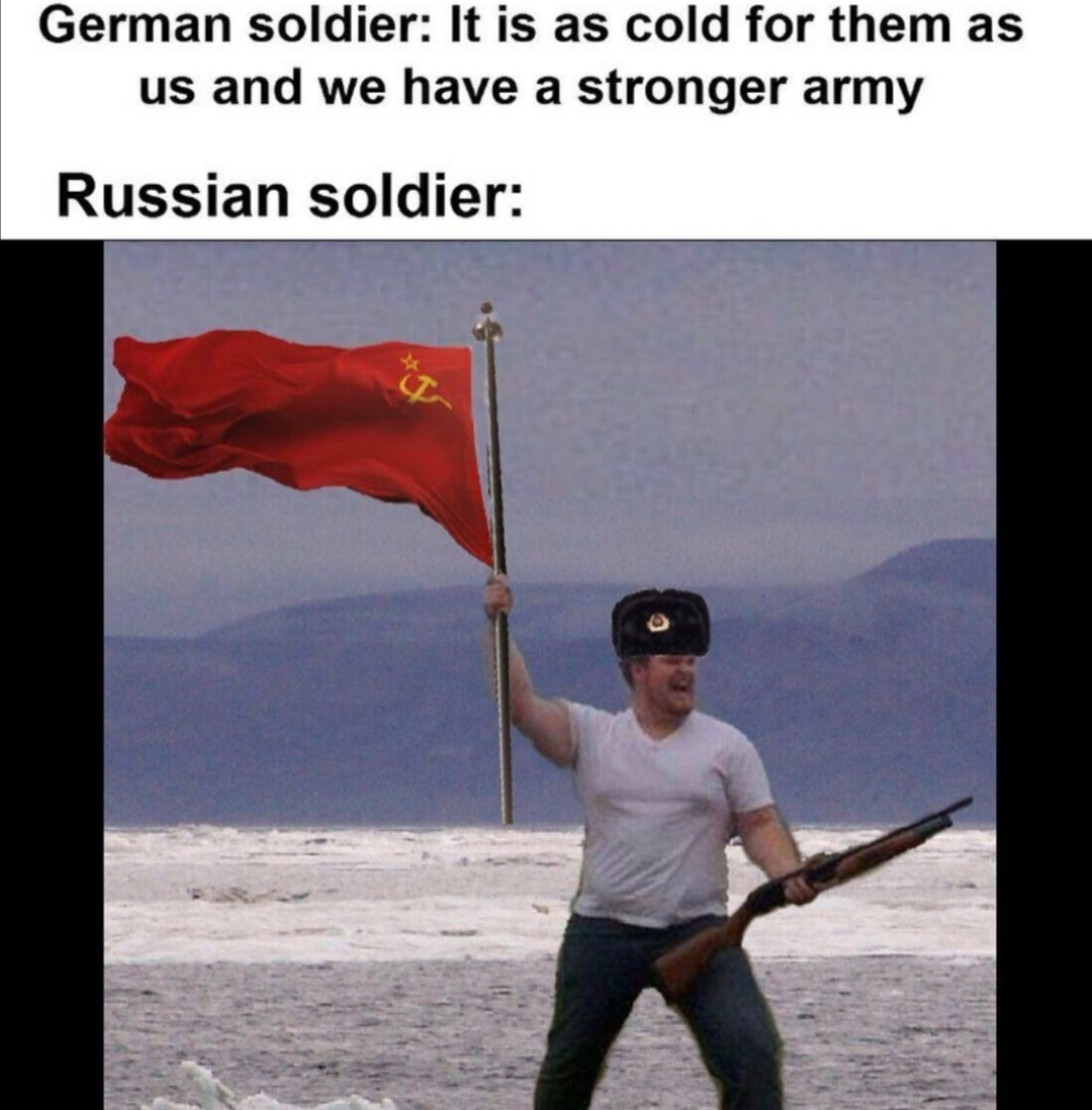Oh those Russians - meme