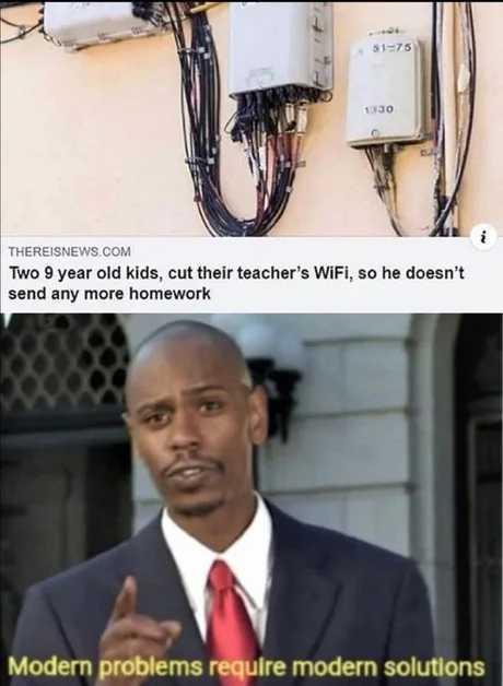 How can you cut the wifi? - meme