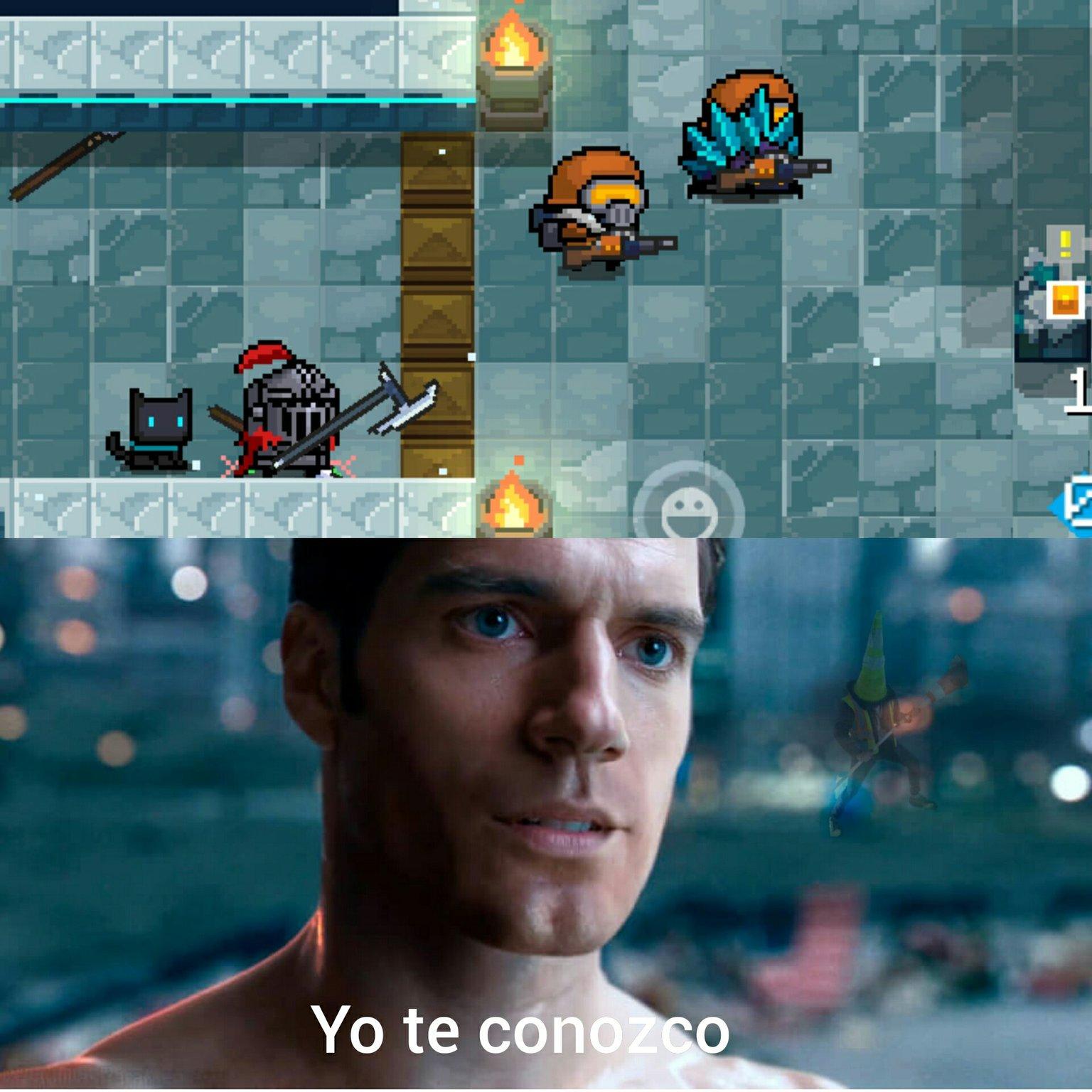 El juego es SOUL KNIGHT - meme