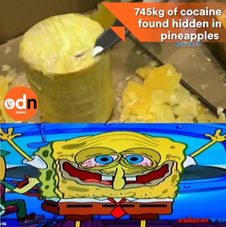 cock... heu non *cocaine* - meme