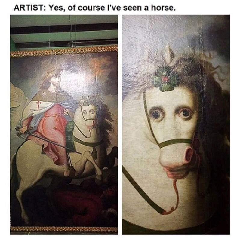 Definitely what a horse looks like - meme