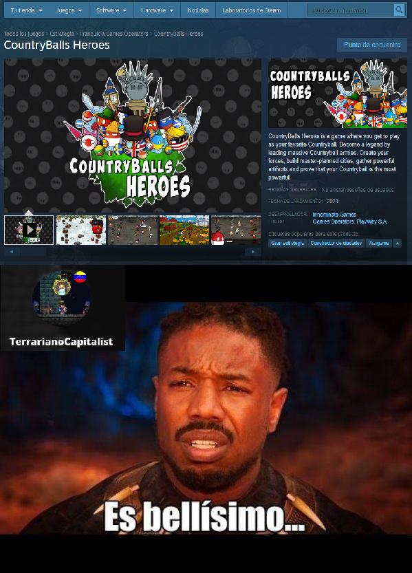 Quiero jugarlo cuand salga, pero no tengo Steam :okay: Perdón por el recorte HD del juego - meme