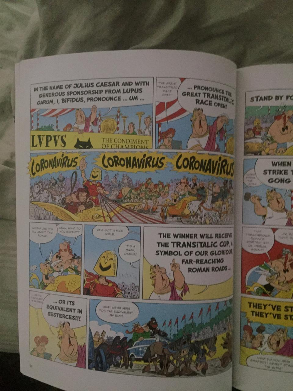 Asterix previndo o corona desde 1981 - meme