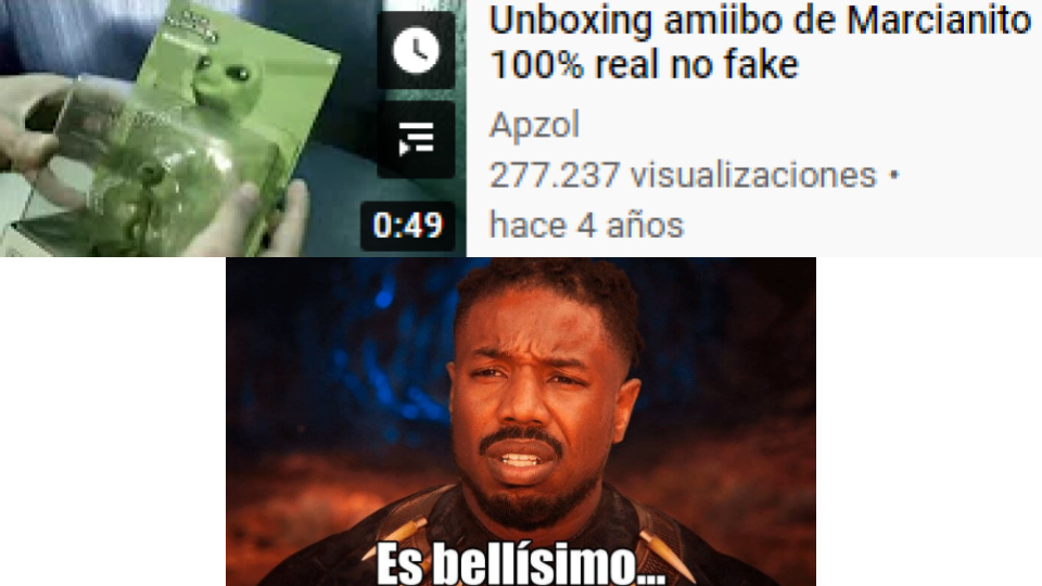 Unboxing amiibo de Marcianito 100% real no fake - meme