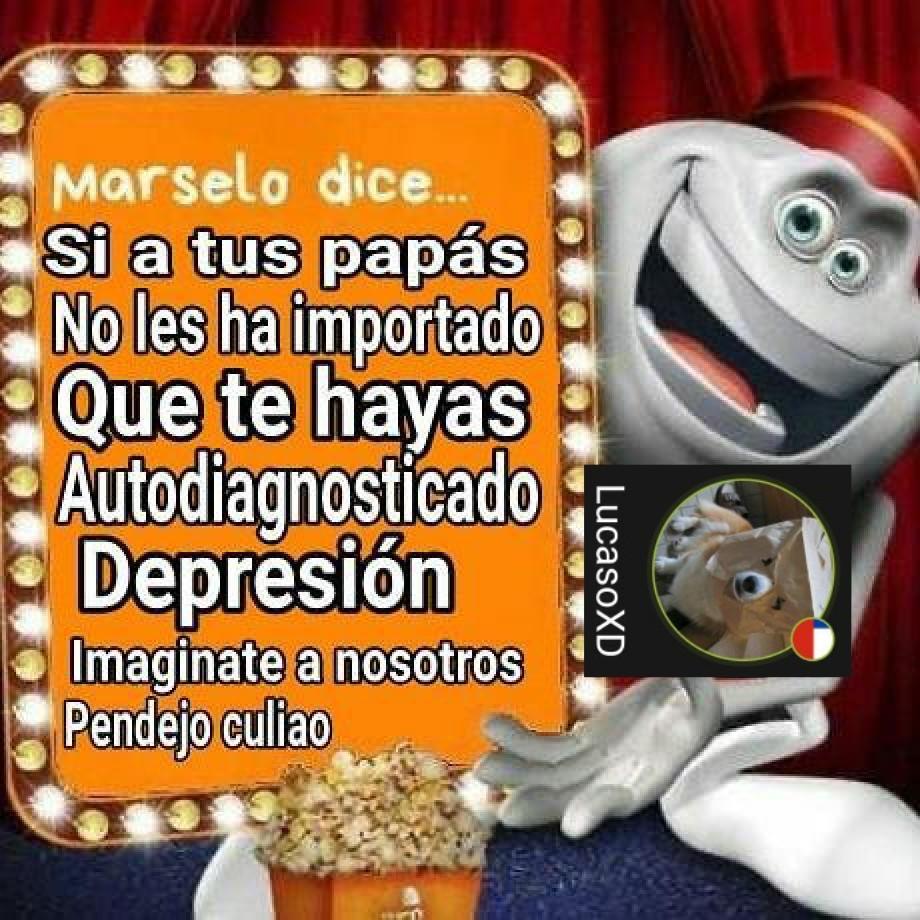 Depresión auto diagnosticada - meme