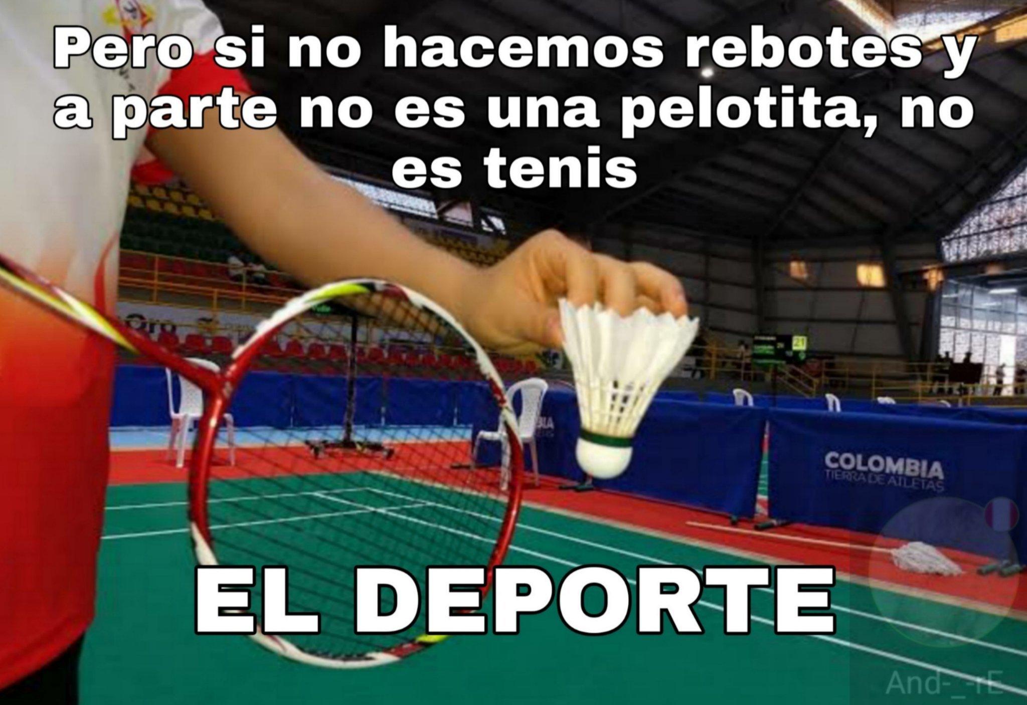 Badminton, como todos somos tercermundistas, nadie reconocerá alguna diferencia, aunque casi no tienen. - meme