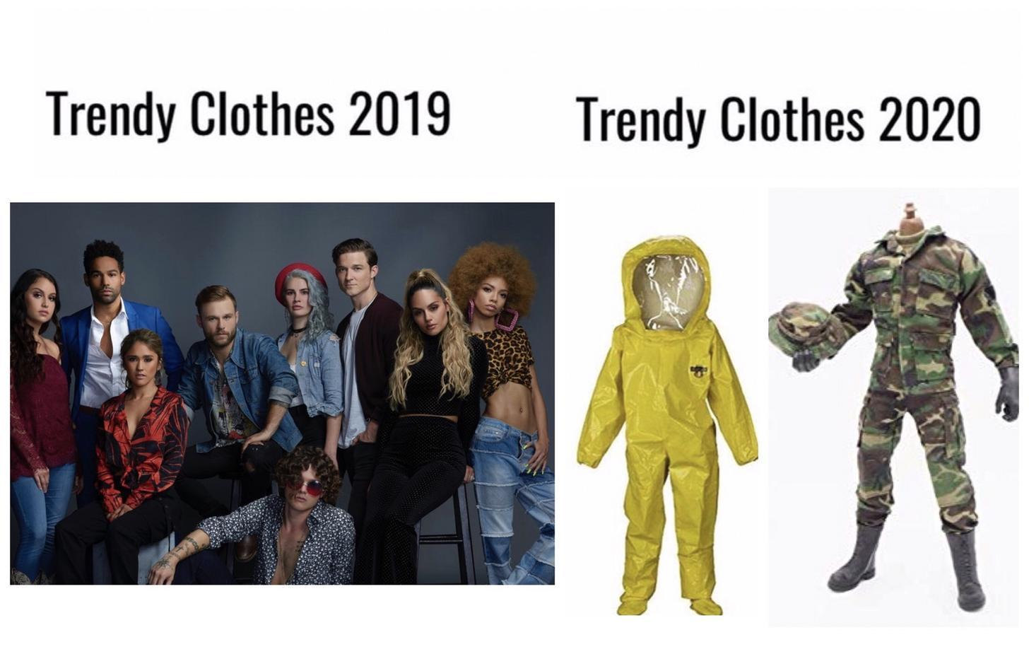 Trendy clothes - meme