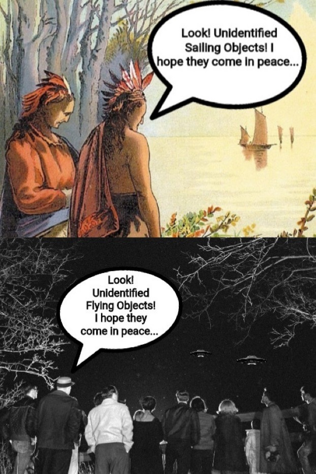 hope they come in peace…. - meme